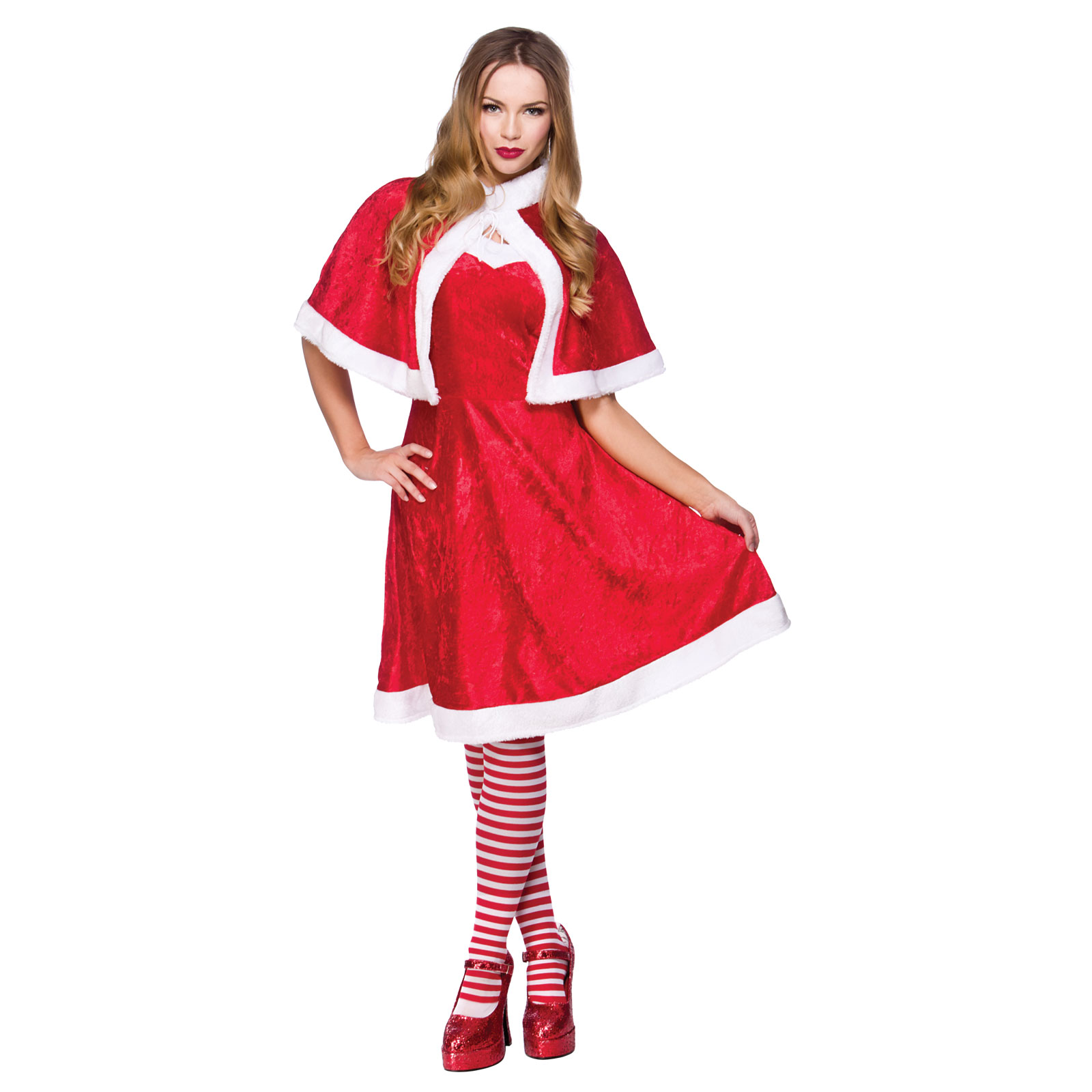 Christmas dress up - Ladies Little Miss Santa Clause Fancy Dress Christmas Dress Up Festive Costume Christmas Xs Party