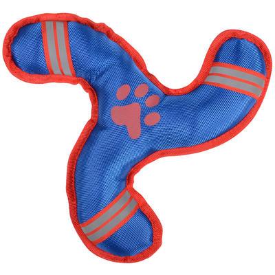 Dog Toy - Tri Star Nylon Pet Dog Puppy Throw Toy - Blue Red Padded Nylon Finish