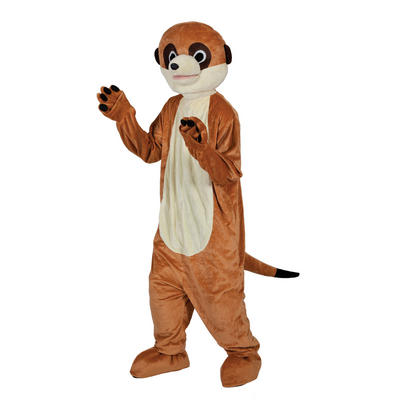 Adult Mascot Brown Meerkat Full Body Mascot Charity Sports Events Fancy Dress Costume