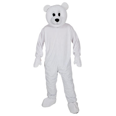 Unisex White Polar Bear Mascot Halloween Fancy Dress Costume New