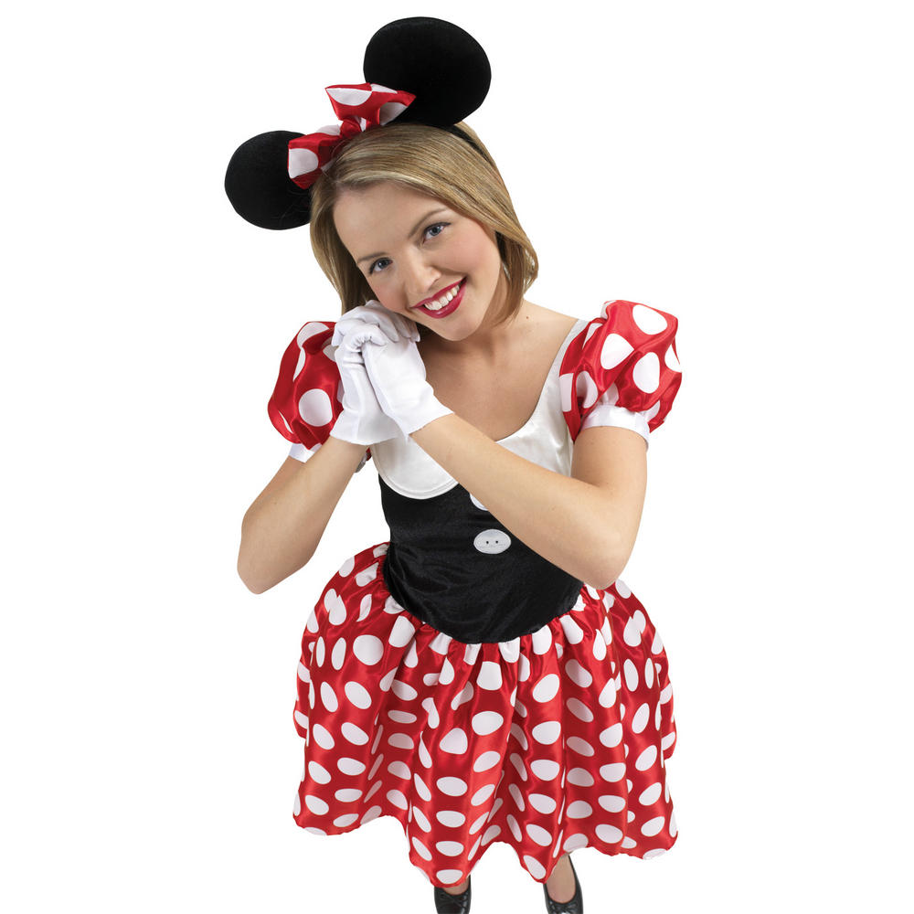 New Adults Minnie Mouse Disney Halloween Fancy Dress Costume