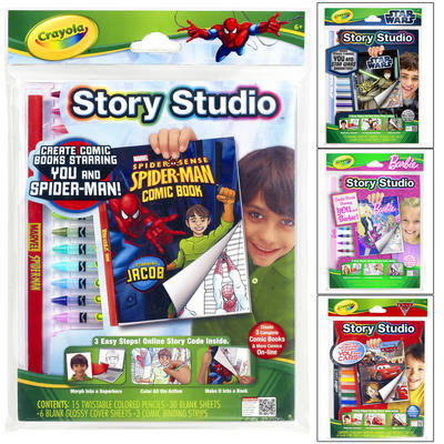 Crayola Story Studio Colouring Story Book Kit With Online Code