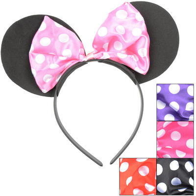 Childrens Mouse Ears Headband Fancy Dress New
