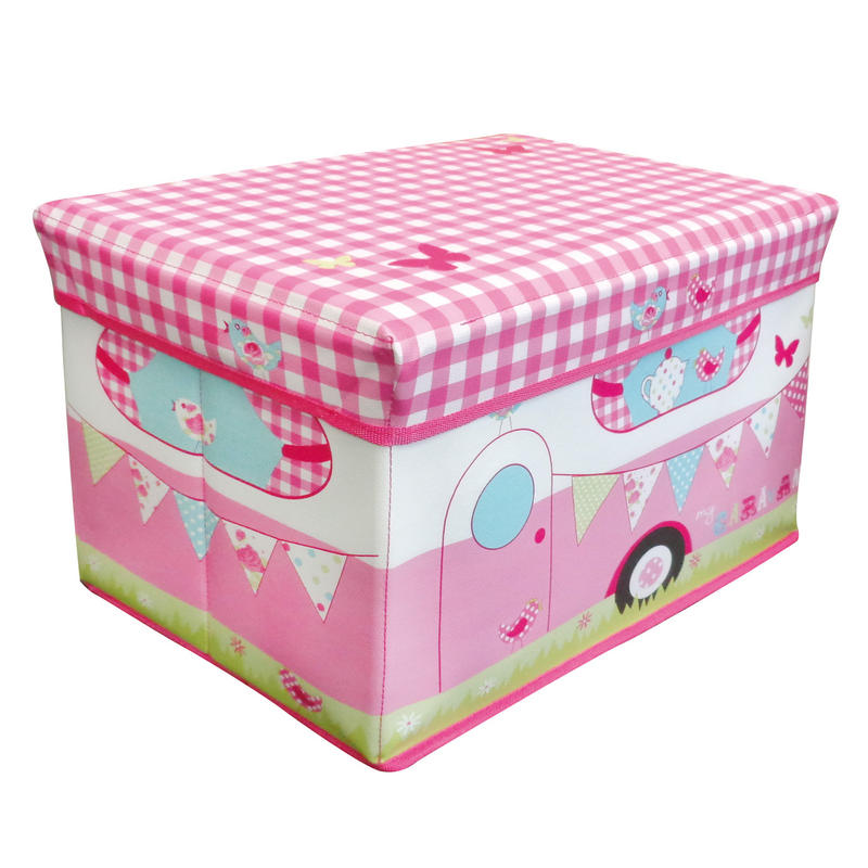 Childrens Jumbo Bedroom Room Tidy Toy Storage Chest Box Trunk