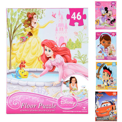New Disney 46pc Floor Puzzle Minnie Mouse Princess Doc McStuffins Jake Pirate