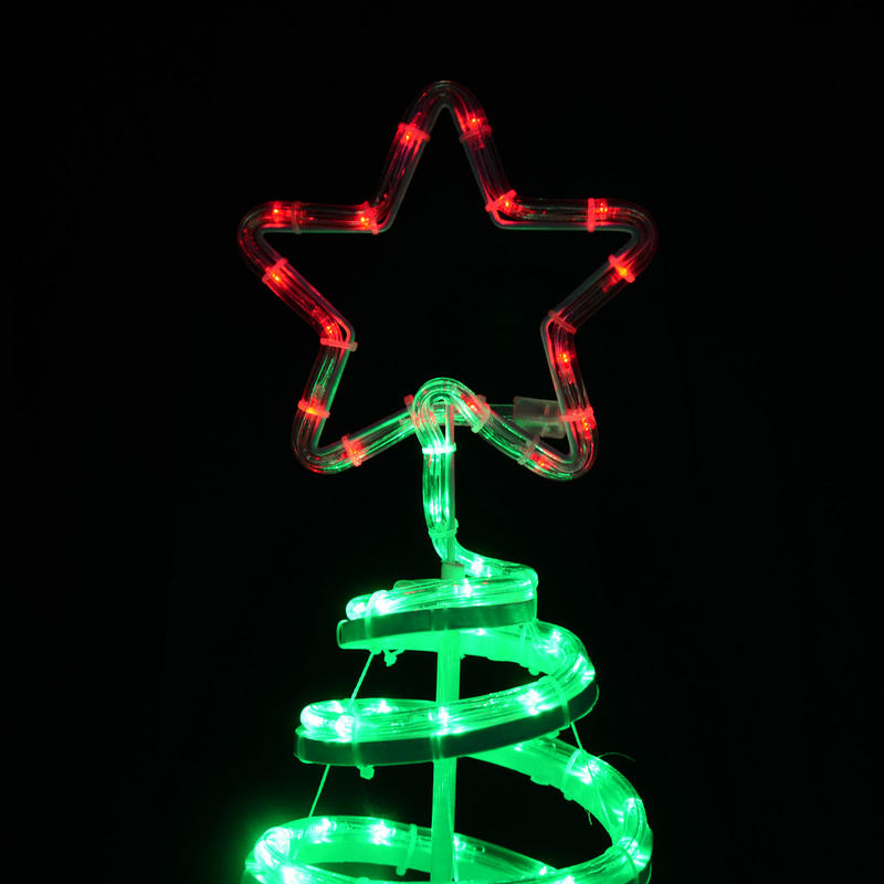 Christmas Spiral Tree LED Rope Light With Star 120cm Indoor Outdoor ...