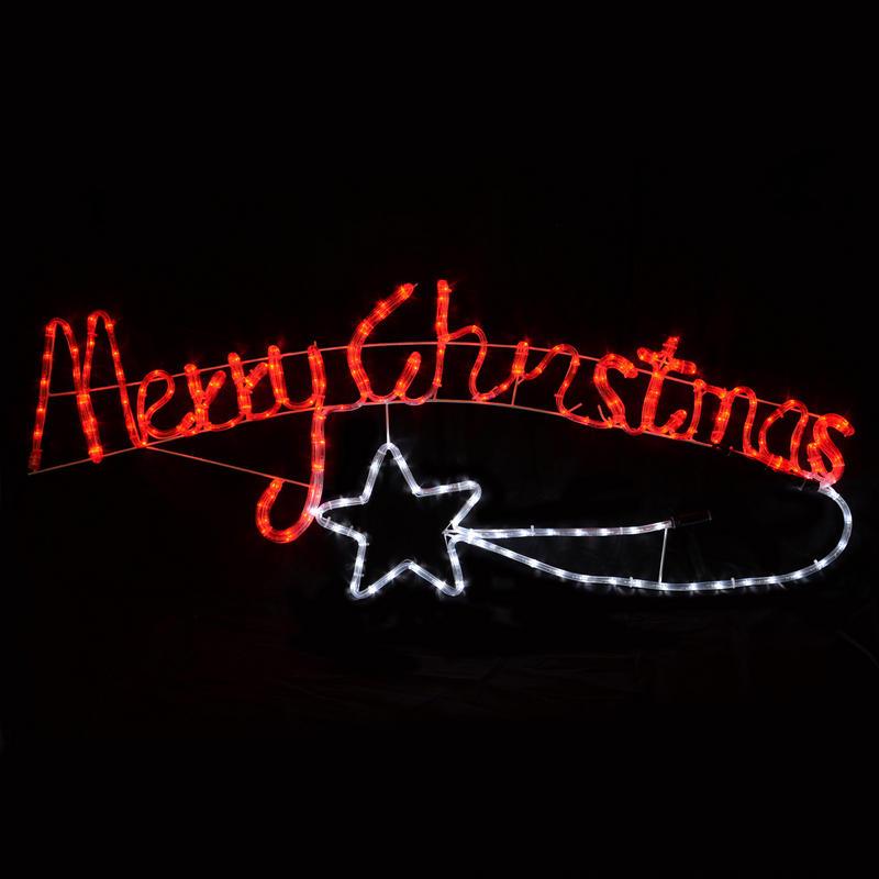 Colorado Shooting Light: LED Rope Light Merry Christmas With Shooting Star New