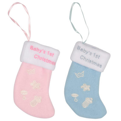 Baby's 1st Christmas Mini Stocking Hanging Xmas Tree Decoration Newborn Gift