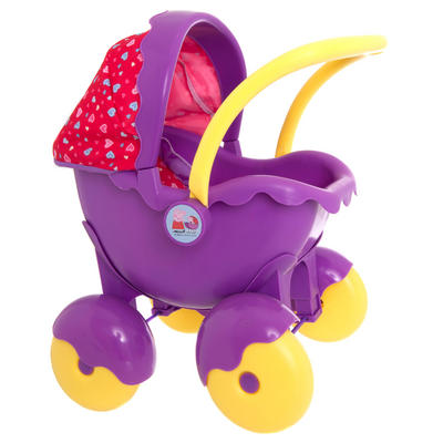 Girls Peppa Pig Push Along Doll Pram Buggy Pushchair Ages 3+