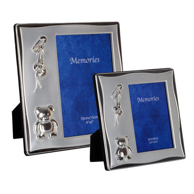 SLIGHT SECONDS - Silver Plated Newborn Baby Photo Picture Frame Christening Gift