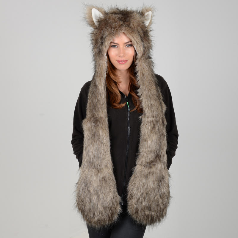 Banish wintry weather with style in these women's hat, scarf and gloves. Crafted in soft fleece, these winter accessories include fluffy animal-print faux fur trim for a posh accent. Crafted in soft fleece, these winter accessories include fluffy animal-print faux fur trim for a posh accent.