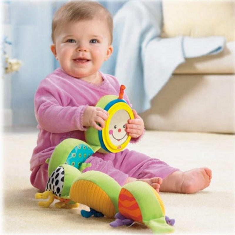 Stimulating Toys For Toddlers : Fisher price miracles milestones measure me caterpillar
