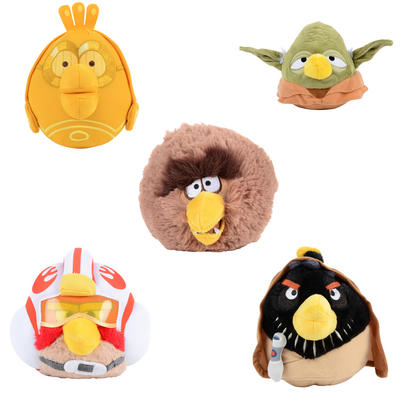 Angry Birds Star Wars Soft Cuddly Stuffed Cute Toy - New