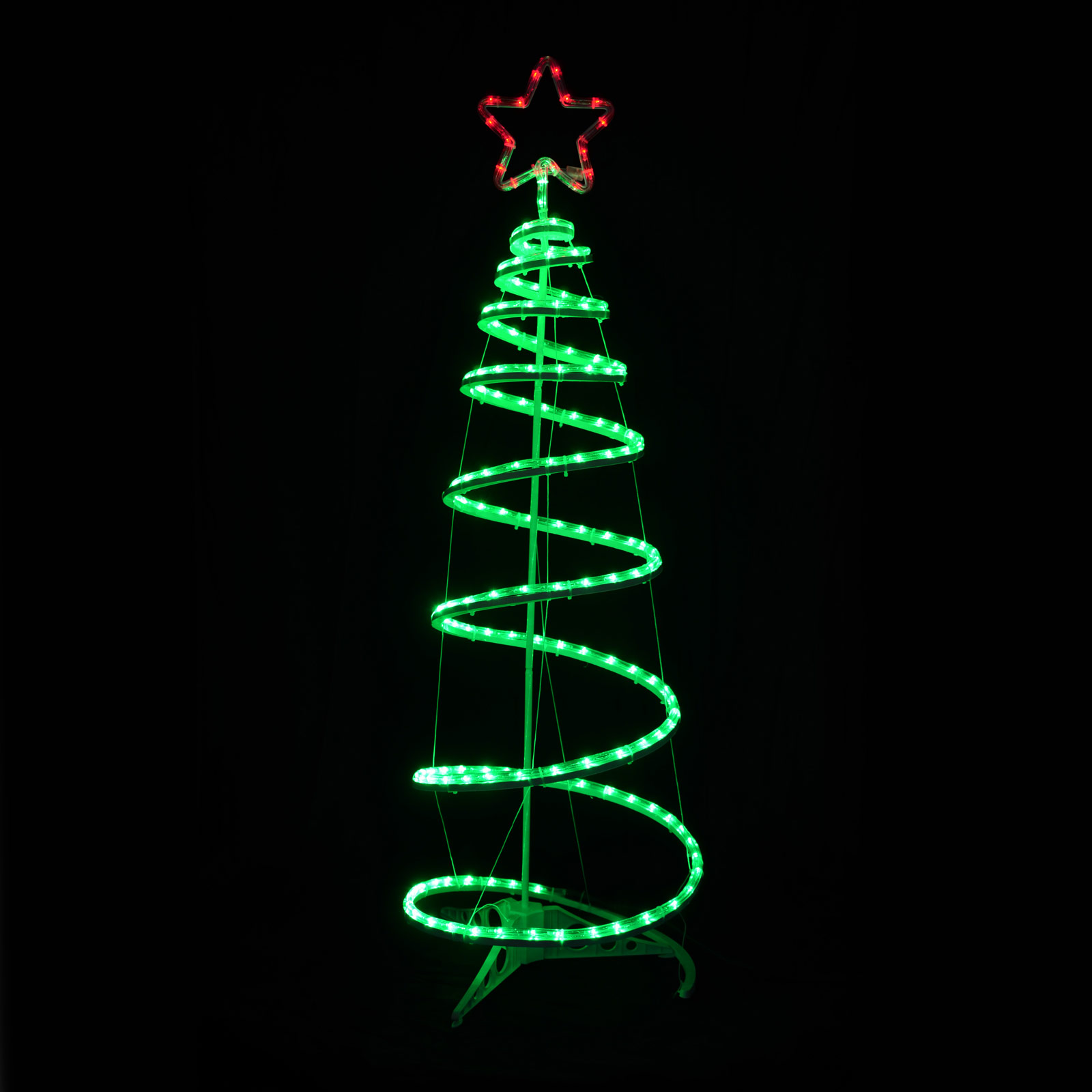 spiral tree led rope light star 120cm indoor outdoor mains decoration