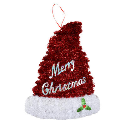 Small Tinsel Christmas Hat Festive Decoration New