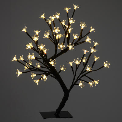 45cm LED Blossom Cherry Tree Lamp 64 Warm White Lights Xmas Home