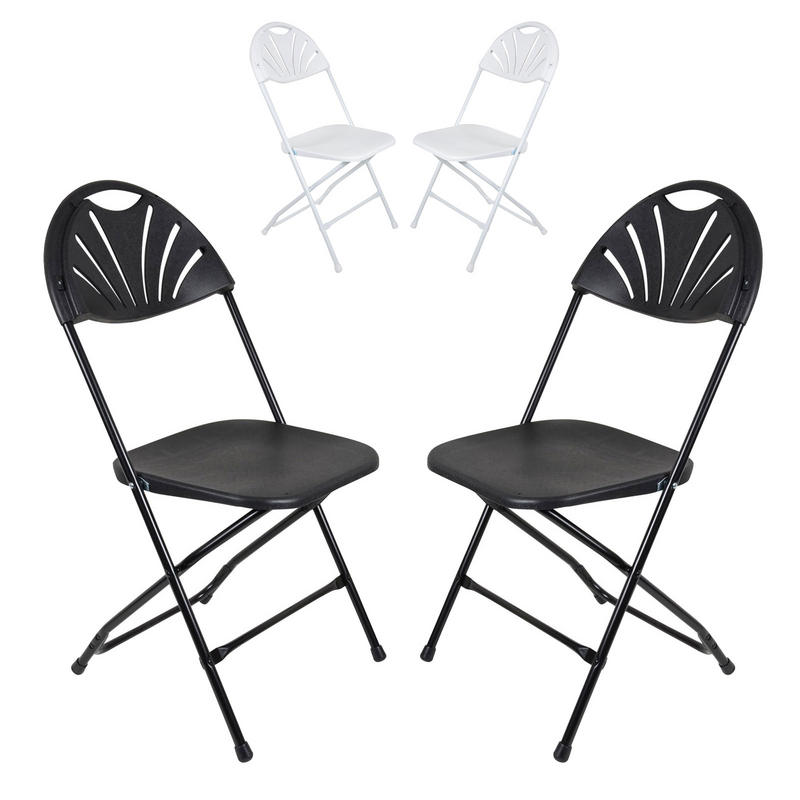 Set Of 2 Folding Chairs With Sunrise Backrest For Indoor / Outdoor Use Preview