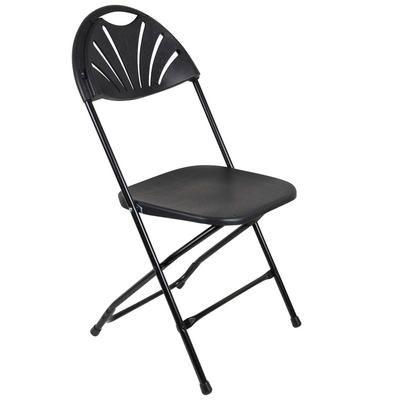 Set Of 2 Black Folding Sunrise Chairs Extra Seating For Christmas Xmas Dinner