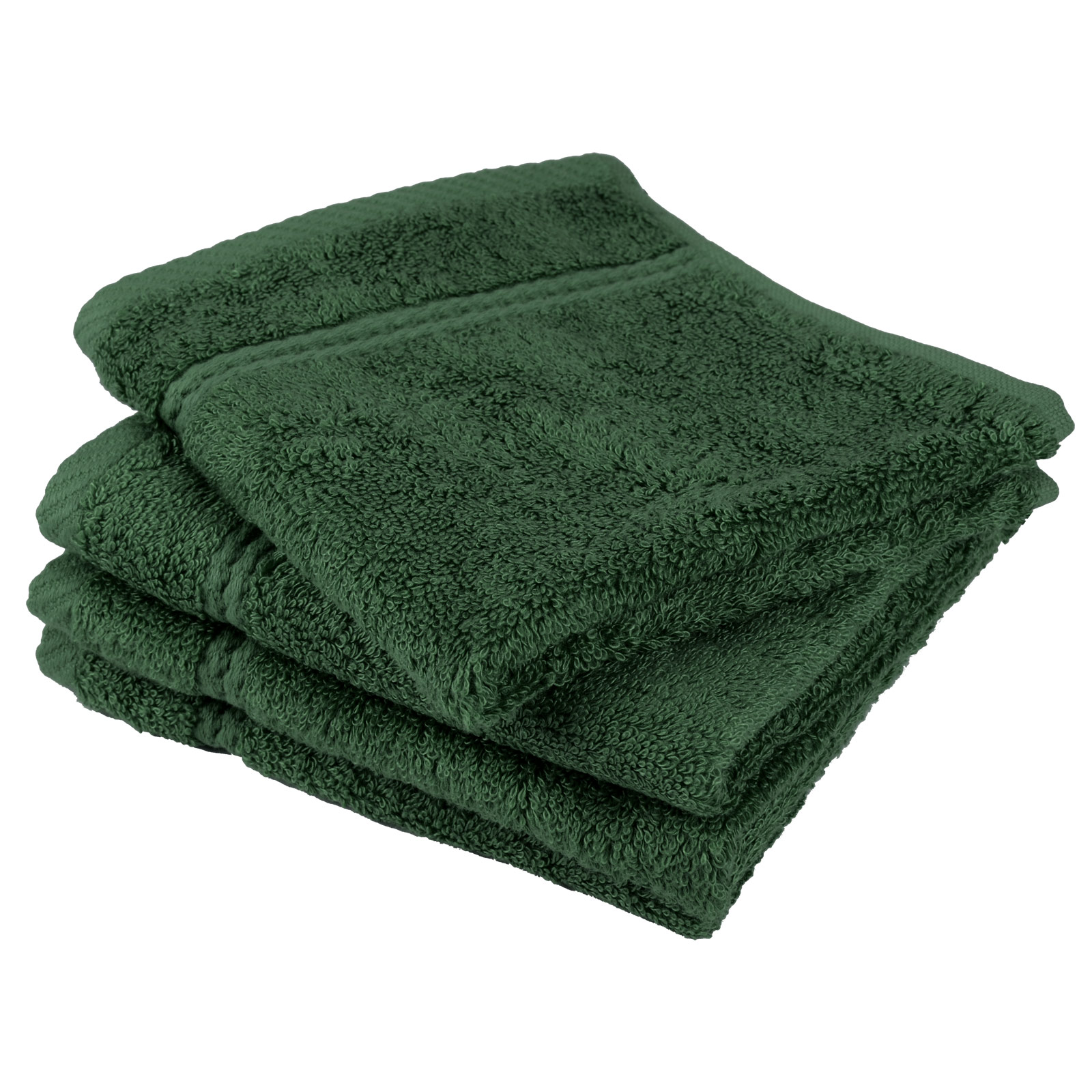 Relatively Forest Green Bamboo Bathroom Bath Linen Soft Face Cloth Flannel  OS91