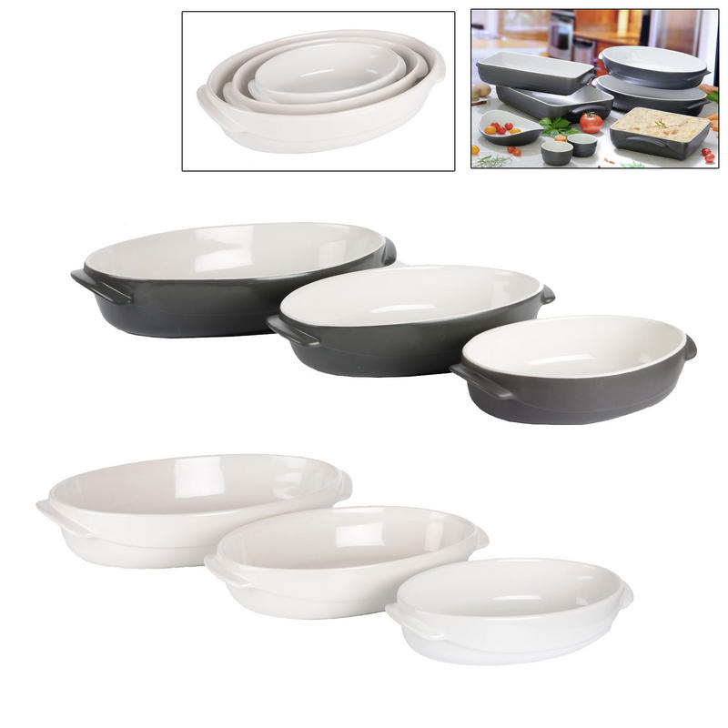 pyrex wave 3 piece roaster casserole dish set