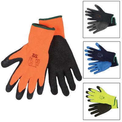 12 Pairs Of Thermal Protective Latex Work Gloves