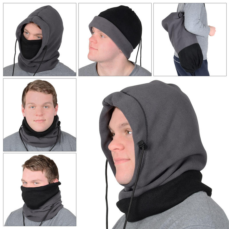 Versatile, can be used as a hat, snood, scarf, mask to use Fleece Neck Warmer [Solids] - Reversible Neck Gaiter Tube, Ear Warmer Headband, Mask & Beanie. Ultimate Thermal Retention, Versatility & .