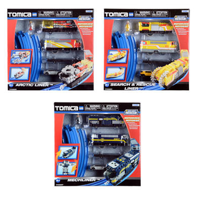 Childrens Tomica Hypercity Rescue Train Set Toy