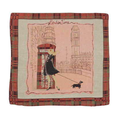 "Wholesale Job Lot Of 10 Cushion Covers With ""Phone Box"" Tapestry Style Design 45cm (18"")"