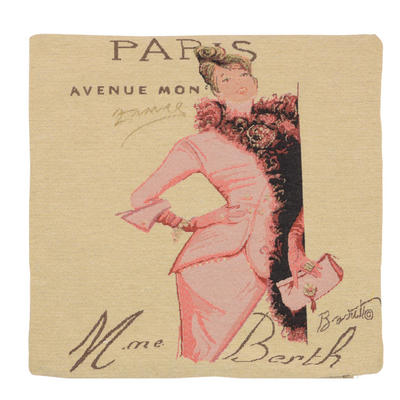 "Wholesale Job Lot Of 10 Cushion Covers With ""Paris"" Tapestry Style Design 45cm (18"")"