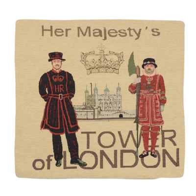"""Wholesale Job Lot Of 10 Cushion Covers With """"Tower Of London"""" Tapestry Style Design 45cm (18"""")"""