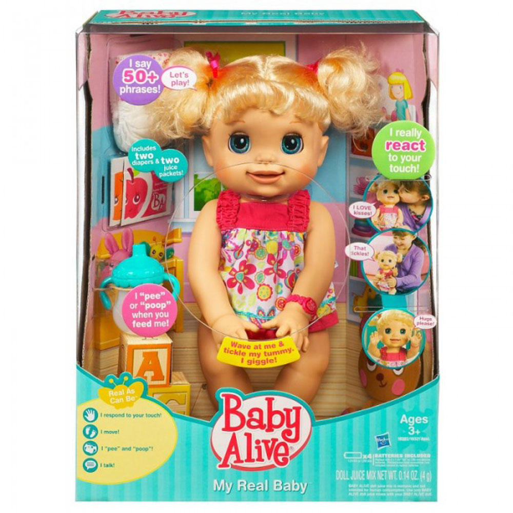 Bags for school argos - Childrens Baby Alive My Real Baby Doll Toy Thumbnail 2
