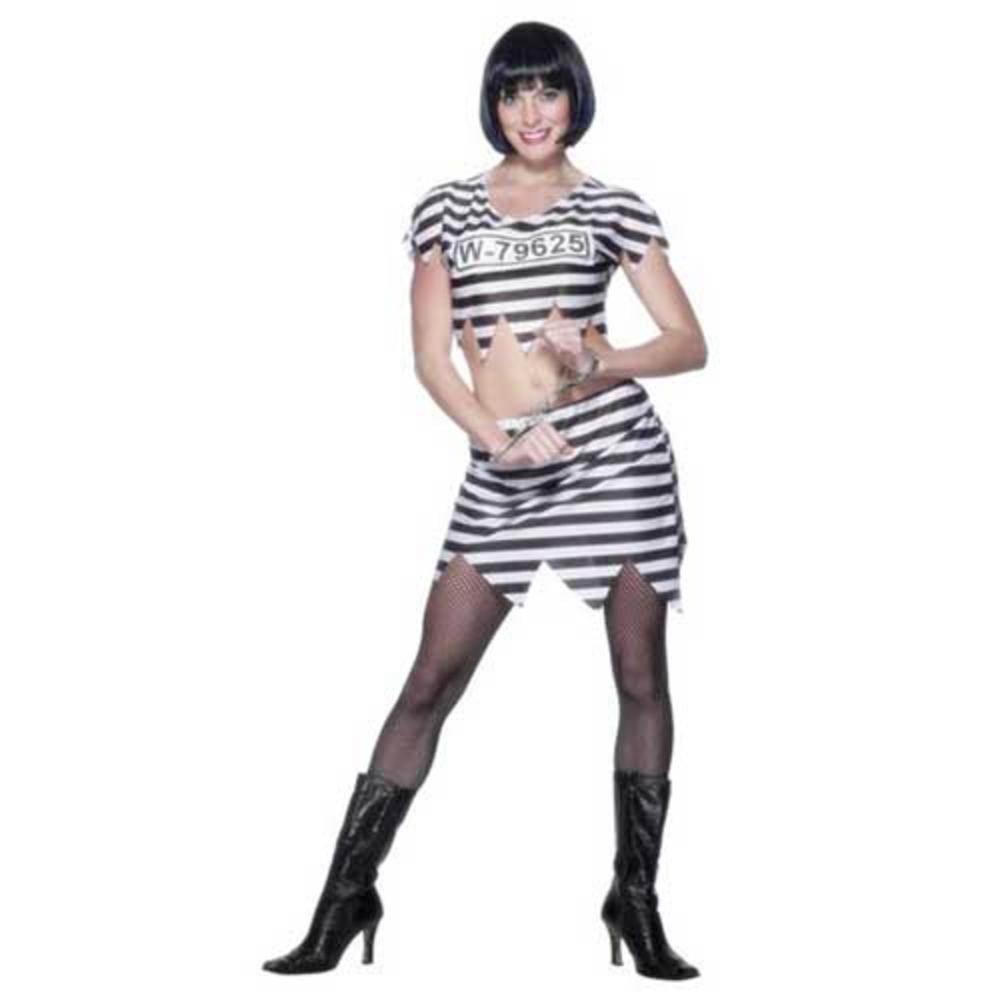 Smiffy's Ladies Sexy Convict Prisoner Jail Cell Fancy ...