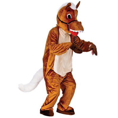 Adult Animal Happy Horse Fancy Dress Up Party Costume New - Brown