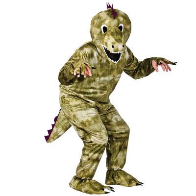 Adult Animal Green Dinosaur Fancy Dress Up Party Halloween Costume
