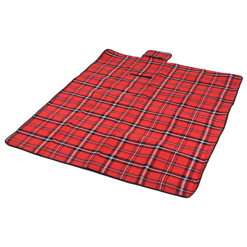 Red Tartan Folding Waterproof Acrylic Picnic Blanket Rug