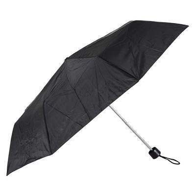 "Ladies Black 21"" Supermini Folding With Sleeve Umbrella Brolly Rain Outdoors New"