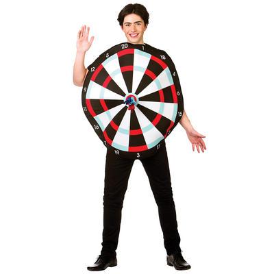 Adults Funny Dart Board Black Fancy Dress Up Party Halloween Costume