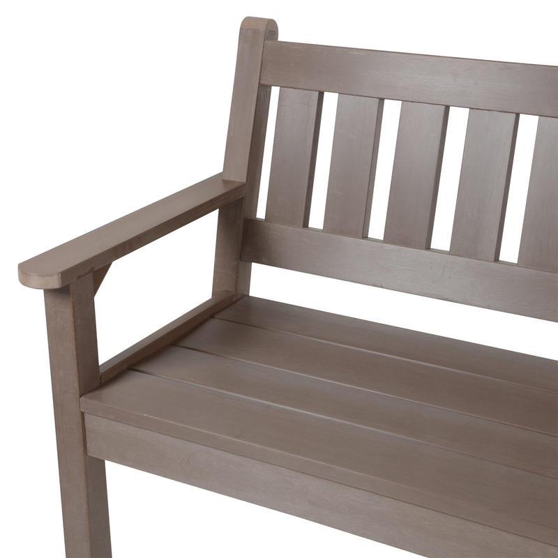3 seat dark oak zero maintenance garden patio jura bench for Zero maintenance garden