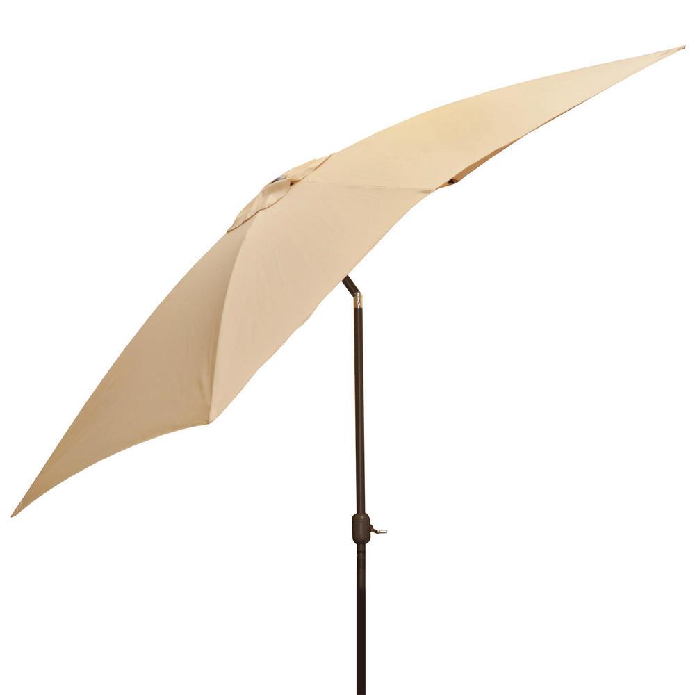 2m x 3m natural rectangular tilting garden parasol with crank. Black Bedroom Furniture Sets. Home Design Ideas