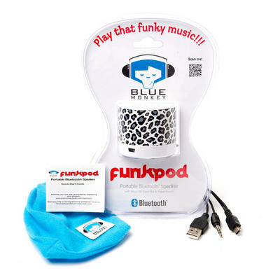 Blue Monkey Snow Leopard Design Funk Pod Portable Bluetooth Speaker