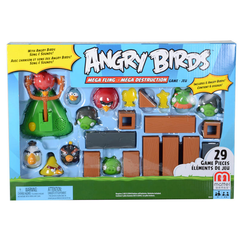 Childrens Angry Birds Mega Fling Battle Game Playset Toy New