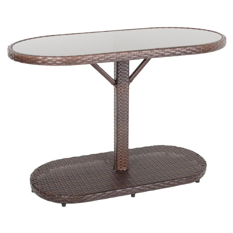 Bistro Cognac Brown Chair: Brown Latina Bistro Garden Table Chairs Rattan Wicker