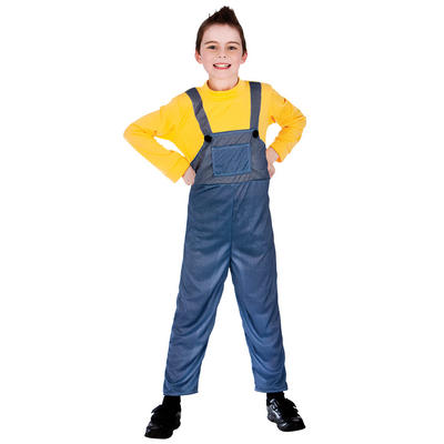 Boys Red Funny Plumber Fancy Dress Halloween Party Costume