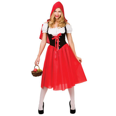 Ladies Red Riding Hood Fancy Dress Halloween Costume