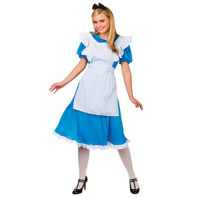 Ladies Storybook Alice Fancy Dress Halloween Costume