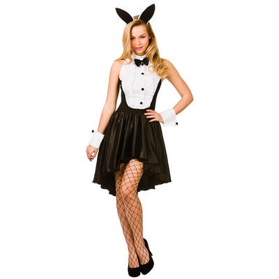 Ladies Bunny Hostess Fancy Dress Halloween Costume