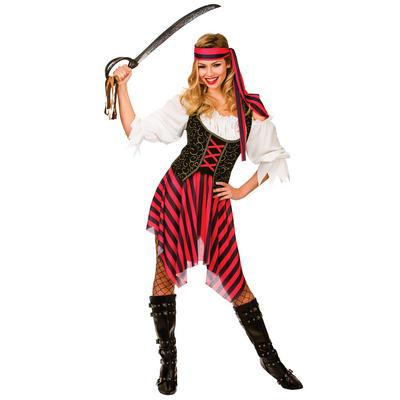 Ladies High Seas Pirate Fancy Dress Halloween Costume