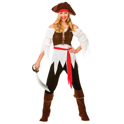 Ladies Pirate Shipmate Fancy Dress Halloween Costume