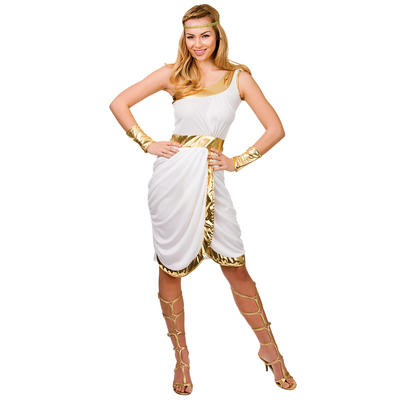 Ladies Glamorous Greek Lady Fancy Dress Halloween Costume