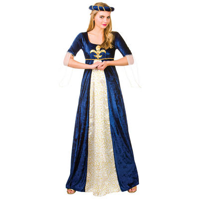Ladies Medieval Maiden Fancy Dress Halloween Costume